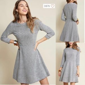 NWOT Lace & Mesh ModCloth Knit Fit Flare Dress New